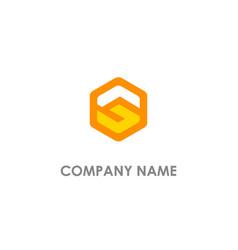 S initial polygon logo vector