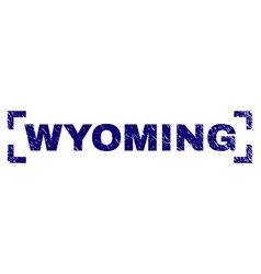 scratched textured wyoming stamp seal inside vector image