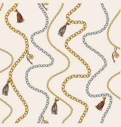 seamless pattern with chain vector image