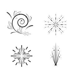 set fireworks celebration scene vector image