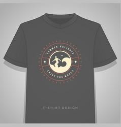 Summer holidays typography tee shirt print vector