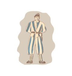 Swiss Guard Standing Sketch vector