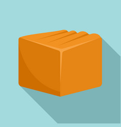Tasty toffee icon flat style vector