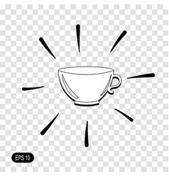 Tea cup icon isolated on transparent background vector