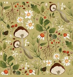 textile chamomile flower design vector image