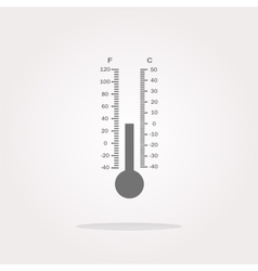 Thermometer web icon button vector image vector image