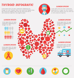 Thyroid infographics with elements in flat style vector