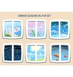 Various Seasons Set vector