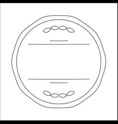 Vintage circle line image vector