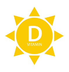 Vitamin d sun sign icon vector