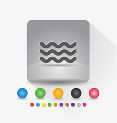 wave shape icon sign symbol app in gray square vector image