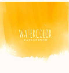 Yellow watercolor texture abstract background vector