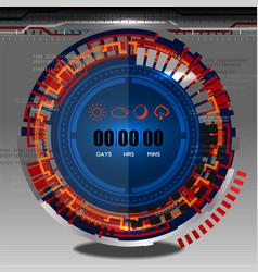 Cyber timer vector