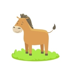 Donkey Farm Animal Cartoon Farm Related Element On vector image