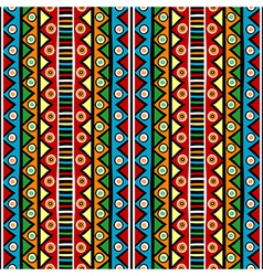 Ethnci motifs in various colors vector