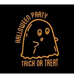 Happy Halloween design Black badge and labelt vector image vector image