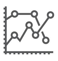 analytics graph line icon development vector image vector image