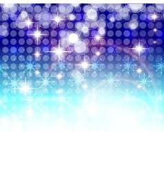 Christmas pattern of blue snowflakes vector image