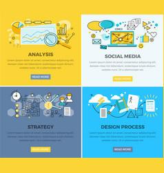 social media analysis and design progress strategy vector image