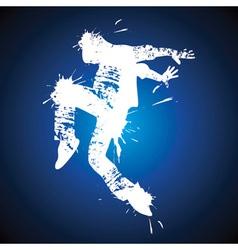 Young man hip-hop dancing vector image