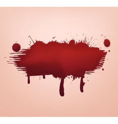 blood blot abstract vector image vector image