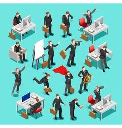 Business Set Isometric People vector image