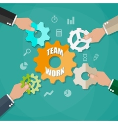 Business team and teamwork concept vector image vector image