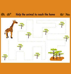 cartoon of education matching game vector image