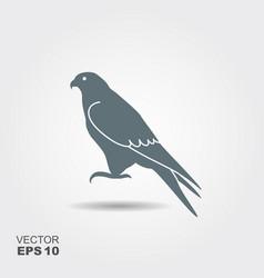 Falcon icon - vector