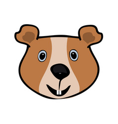 guinea pig funny cute head pets vector image vector image