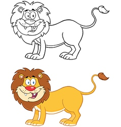 Lion Mascot Character Collection vector image