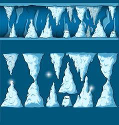 seamless cartoon cave vector image vector image