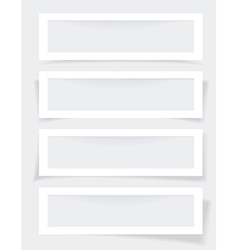 Set of Frames with Different Shadows vector image