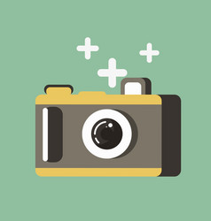 small photo camera vector image vector image