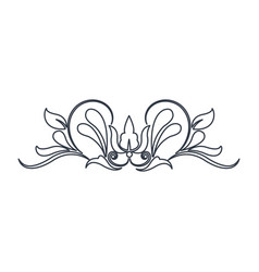 swirl vintage baroque ornament style line vector image