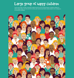 children crowd group multinationals and sky vector image vector image