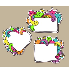 Funky frames vector image vector image