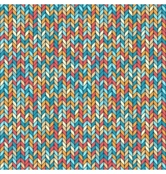 melange knitted seamless background pattern vector image