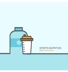 outline flat design of SPORTS NUTRITION vector image