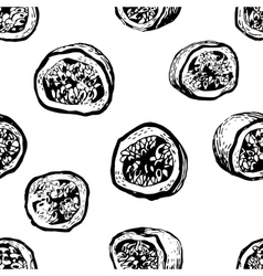 seamless pattern with passion fruit vector image vector image