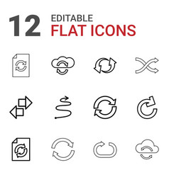 12 repeat icons vector