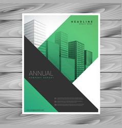 Abstract green business brochure flyer with vector