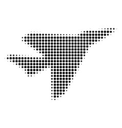 Airplane intercepter halftone icon vector