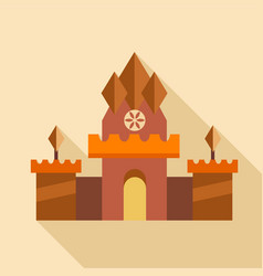 Ancient castle icon flat style vector