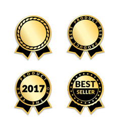 award ribbon the best seller set vector image