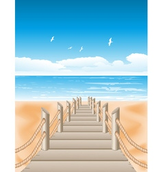 Beach View Background vector
