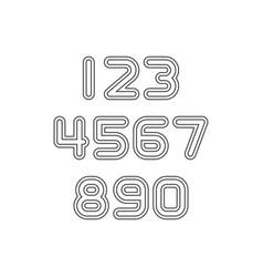 Black numbers letters vector