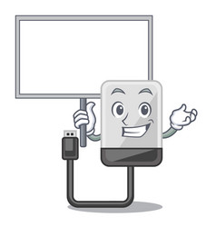 bring board hard drive in shape of mascot vector image