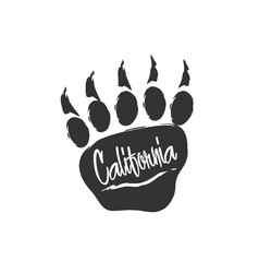 californian bear paw print bear footprint vector image