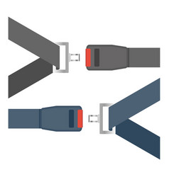 Car seat belts ilustration isolated on a white vector